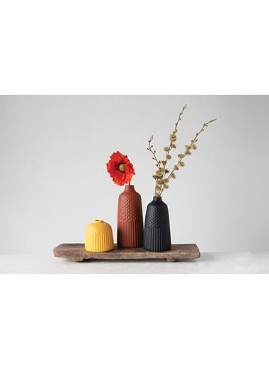 Warm Design 3'Lü Set Porselen Vazolar Renkli
